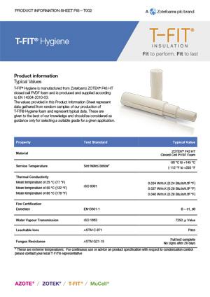 T-FIT Hygiene data sheet_